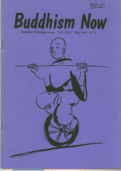 Cover of the May 1994 Buddhism Now. Art © Marcelle Hanselaar