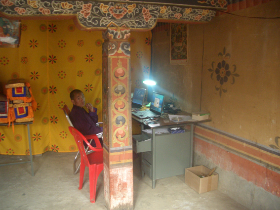 Digitising manuscripts at Gangtey Monastery in Bhutan, British Library endangeredarchives project. @bl_eap