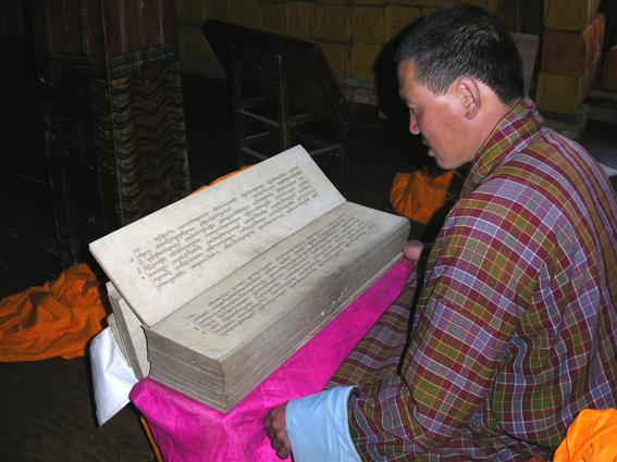 Digitising manuscripts at Gangtey Monastery in Bhutan, British Library endangeredarchives project