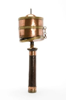 Handheld Prayer wheel with copper barrel