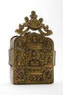 A portable shrine containing mantras