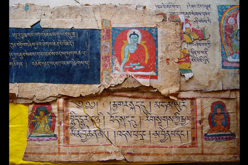 Fragments of rare twelfth-century illuminated Tibetan texts from Keu Lhakang Temple