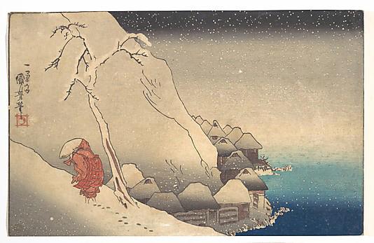 Travelling in a Snowstorm Utagawa Kuniyoshi (Japanese, 1797–1861)