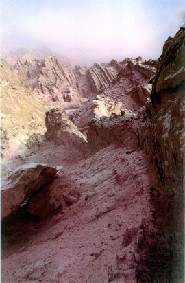 Narrow mountain pass