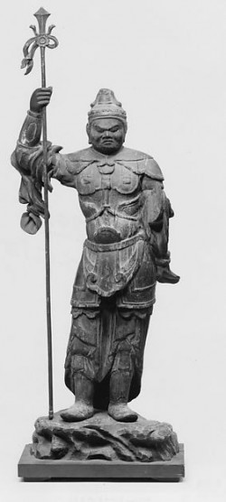Guardian King Bishamonten. Japan, Heian period (794–1185), 12th century