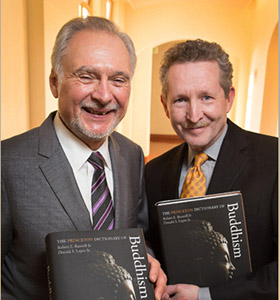 Professors Robert E. Buswell, Jr. (left) and Donald S. Lopez, Jr. (Photo: Reed Hutchinson.)