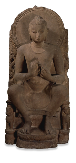 Teaching Buddha, from Eastern India, possibly Sarnath Gupta period, 5th century AD © Trustees of the British Museum