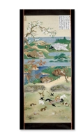 The Six Realms of Birth, 10 hanging scroll paintings Japan Edo period, 19th century AD