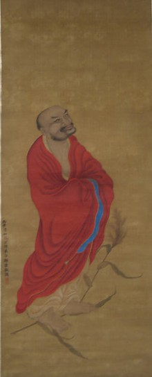 Old Bodhidharma Crossing River on Reed
