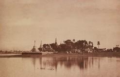 Linnaeus Tripe (British, Devonport (Plymouth Dock) 1822–1902 Devonport) Amerapoora. View on the Lake., September 1–October 21, 1855 Salted paper print; image: 22.4 × 34.8 cm (8 13/16 × 13 11/16 in.) mount: 45.6 × 58.3 cm (17 15/16 × 22 15/16 in.) mat: 50.8 × 61 cm (20 × 24 in.)