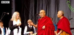 Dalia Lama at Glastonbury June 2015