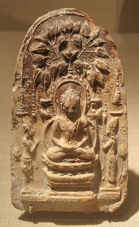 Buddha Seated under the Bodhi Tree . Thailand 7th–9th century. Photo © Metropolitan Museum of Art