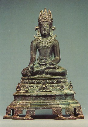 Seated Crowned and Jeweled Buddha. India late 10th century. Photo © Metropolitan Museum of Art