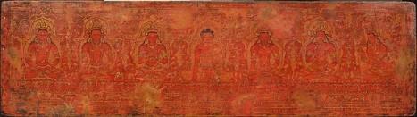 The Buddha Shakyamuni, Five Past Buddhas, and Maitreya. ca. 15th century, Tibet © Metropolitan Museum of Art