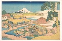 Fuji from the Katakura Tea Fields in Suruga.