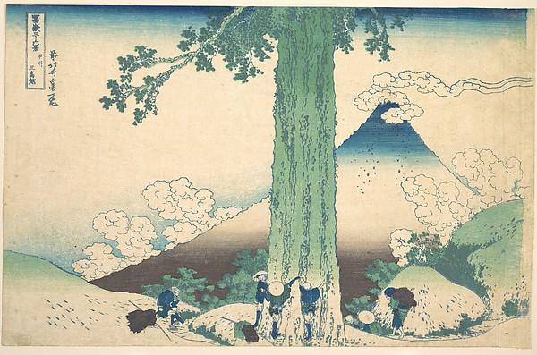 Fuji San, by Katsushika Hokusai, Japan, ca. 1830–32. © Metropolitan Museum of Art