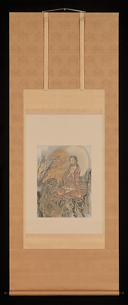 Kawanabe Kyosai (Japanese, 1831–1889) Shakyamuni Conquering the Demons (Shaka Goma-zu), ca. 1888 Japan, Meiji period (1868–1912) Album leaf mounted as a hanging scroll; ink and color on silk; 14 1/2 x 11 in. (36.8 x 27.9 cm) The Metropolitan Museum of Art, New York, Charles Stewart Smith Collection, Gift of Mrs. Charles Stewart Smith, Charles Stewart Smith Jr., and Howard Caswell Smith, in memory of Charles Stewart Smith, 1914 (14.76.61.51) http://www.metmuseum.org/Collections/search-the-collections/54688
