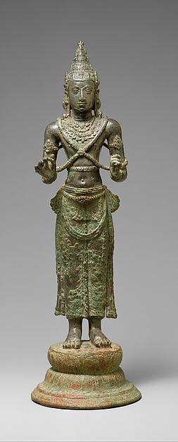 Standing Bodhisattva, probably Avalokiteshvara, Anuradhapura period, ca. 8th century, Sri Lanka. © Metropolitan Museum of Art