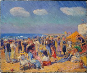 Crowd at the Seashore, William James Glackens © Metropolitan Museum of Art