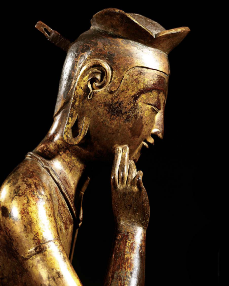 Pensive Bodhisattva with Lotus Crown © NATIONAL MUSEUM OF KOREA. ALL RIGHTS RESERVED