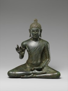 Seated Buddha Expounding the Dharma, late 8th century Culture: Sri Lanka (Anuradhapura) © Metropolitan Museum of Art