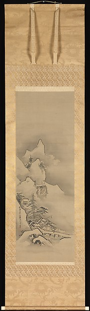 Winter Landscape Artist: Kano Tan'yū (Japanese, 1602–1674) © The Metropolitan Museum of Art