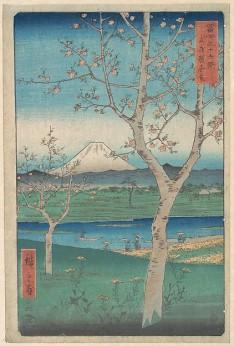 View of Mount Fuji from Koshigaya, Province of Musashi