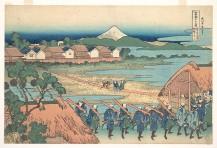 Fuji Seen in the Distance from Senju Pleasure Quarter