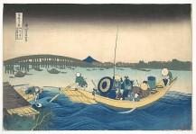 Viewing the Sunset over Ryōgoku Bridge from the Onmayagashi Embankment