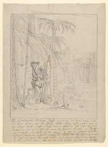 An Indian Yogi Tied to a Palm Tree. Willem Schellinks.