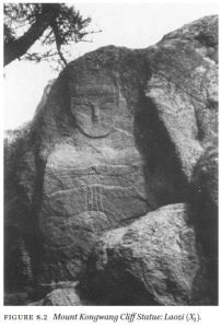 Rock Buddha FIGURE 8.2 Mount Kongwang Cliff Statue: Laozi (X1).