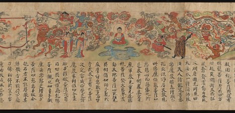 Scene of Temptation from the Sutra of Cause and Effect (Kako genzai e-ingakyo), late 13th century Kamakura period, Japan. © Metropolitan Museum of Art