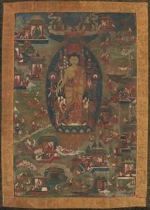 Buddha Sakyamuni and Scenes of His Previous Lives.