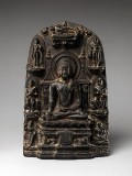 Stele with Eight Great Events from the Life of the Buddha