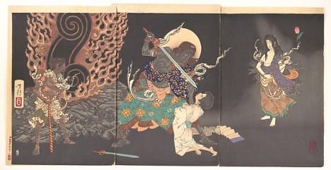 Fudō Myōō Threatening a Novice, Japan Tsukioka Yoshitoshi (Japanese, 1839–1892). © The Metropolitan Museum of Art