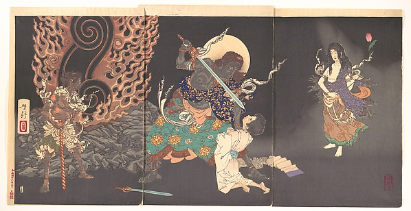 Fudō Myōō Threatening a Novice, Japan Tsukioka Yoshitoshi (Japanese, 1839–1892). © The Metropolitan Museum of Art
