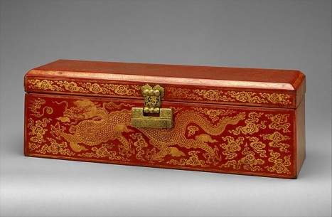 Sutra Box with Dragons amid Clouds, China, Ming dynasty, Yongle period (1403–24) © The Metropolitan Museum of Art