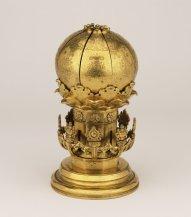 Gilt bronze Tibetan Chinese mandala