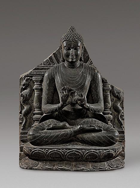 Buddha Preaching the First Sermon at Sarnath. India (Bihar, probably Nalanda), 11th century. © Metropolitan Museum of Art