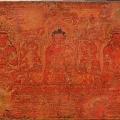 The Buddha Shakyamuni, Five Past Buddhas, and Maitreya. Tibet, ca. 15th century, Wood with red pigment, gold, and ink. © The Metropolitan Museum of Art