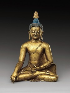 Seated Buddha Reaching Enlightenment, Central Tibet, 11th–12th century. © Metropolitan Museum of Art