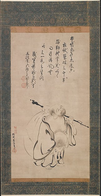 Kano Takanobu (Japanese, 1571–1618) Hotei, dated 1616 Japan, © The Metropolitan Museum of Art, New York