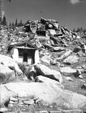 Tibetan or Mongolian meditation huts © eap.bl.uk