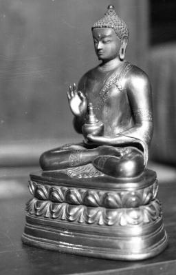 Tibetan or Mongolian Buddha Rupa © eap.bl.uk