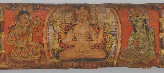 Book Cover from a Manuscript of the Ashtasahasrika Prajnaparamita Sutra