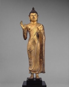 Buddha Offering Protection, Anuradhapura period, ca. 10th century, Sri Lanka. © Metropolitan Museum of Art