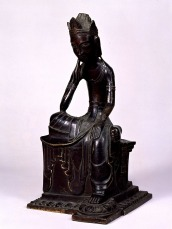 Seated Bodhisattva with one leg pendent. Japan, Asuka or Nara Period dated 606 or 666. Horyuji Treasure. © Tokyo National Museum