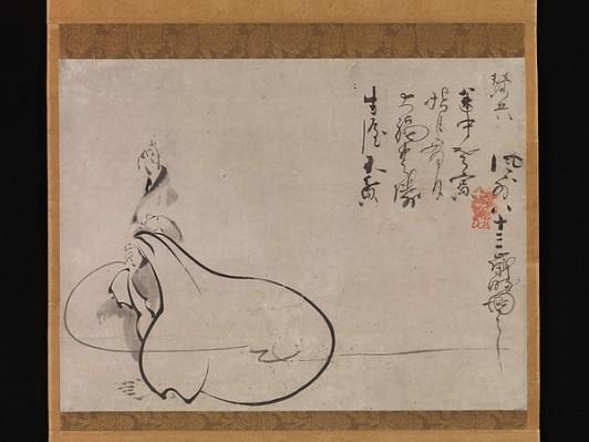 Hotei Pointing at the Moon, Japan, Fūgai Ekun (Japanese, 1568–1654), © Metropolitan Museum of Art