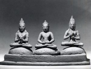 Buddhist Trinity on Cushions, Java, Dieng Plateau, 8th century, © Metropolitan Museum of Art
