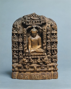 Stele with Scenes from the Life of the Buddha, Burma, early 13th century. © President and Fellows of Harvard College